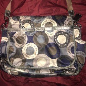 AUTHENTIC COACH DIAPER BAG medium size baby bag